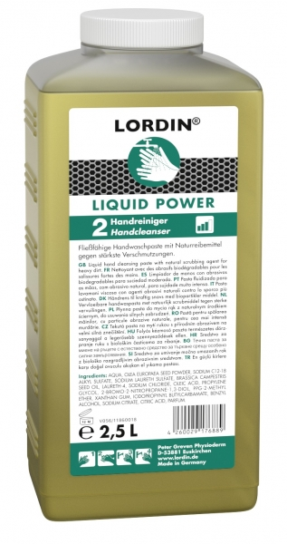 GREVEN-HAUTREINIGUNG, Lordin Liquid Power, 2500 ml Hartflasche