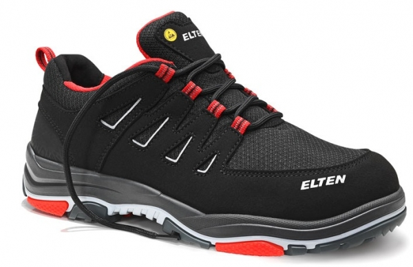 ELTEN-S1P-ERGO-ACTIVE-Sicherheitshalbschuhe, WILLIAM Low, ESD, Fußtyp 2, red