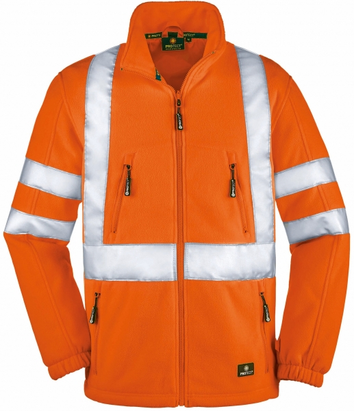 BIG-4-Protect-Workwear, Warnschutz-Fleece-Jacke, Seattle, leuchtorange