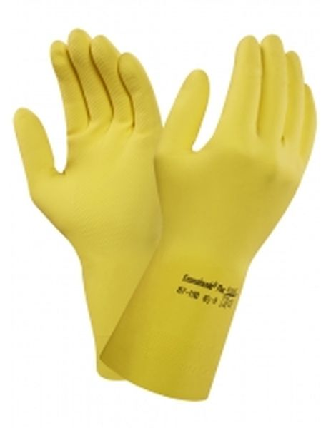 ANSELL-Latex-Arbeitshandschuhe, Econohands Plus, 87-190, Gelb