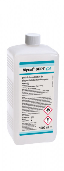 GREVEN-HANDDESINFEKTION, Myxal Sept Gel, 1000 ml