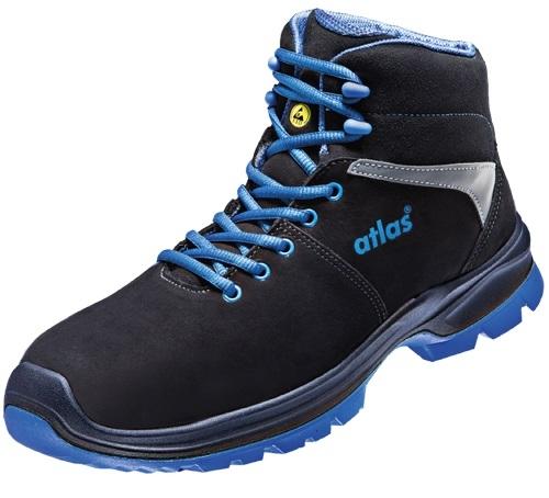 atlas footwear s3 sicherheits arbeits berufs schuhe hochschuhe sl 805 xp blue esd weite 12. Black Bedroom Furniture Sets. Home Design Ideas