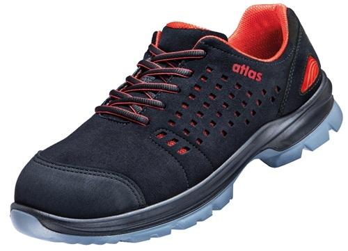 atlas footwear s1 sicherheits arbeits berufs schuhe halbschuhe sl 30 red schwarz rot. Black Bedroom Furniture Sets. Home Design Ideas