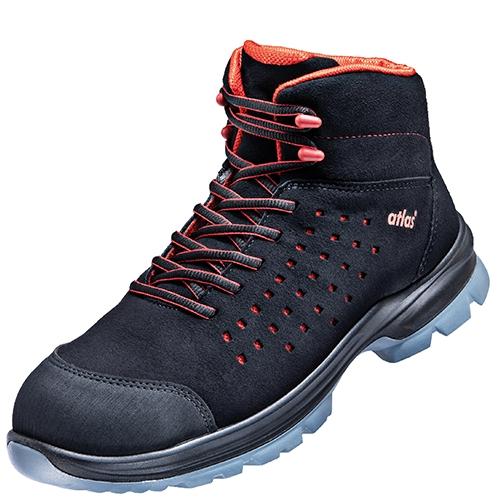 atlas footwear s1 sicherheits arbeits berufs schuhe hochschuhe sl 32 red esd weite 12. Black Bedroom Furniture Sets. Home Design Ideas