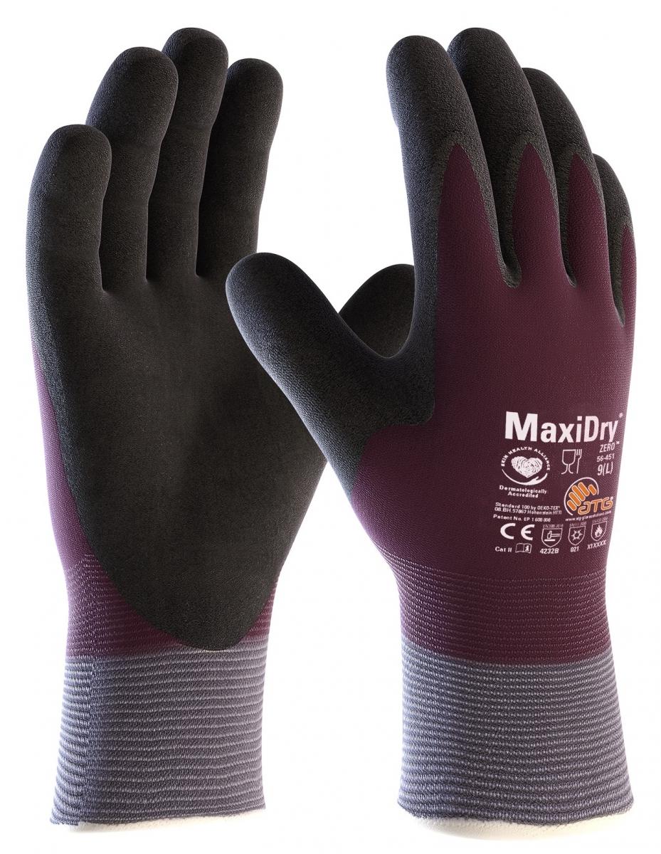 big atg nitril handschuhe maxidry zero als sb verpackung violett schwarz. Black Bedroom Furniture Sets. Home Design Ideas