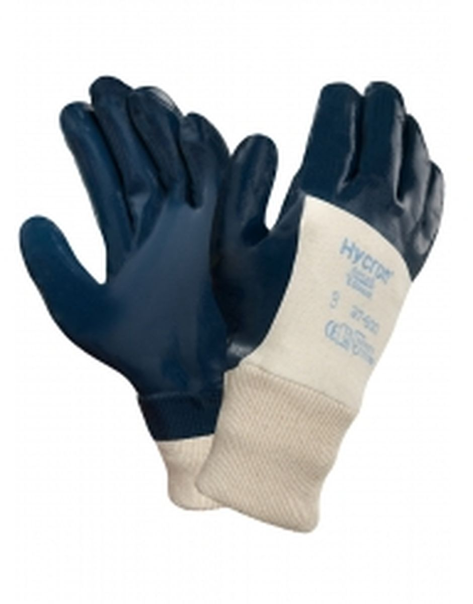ansell nitril arbeits handschuhe hycron 27 600 blau. Black Bedroom Furniture Sets. Home Design Ideas