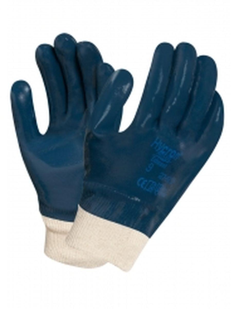 ansell nitril arbeits handschuhe hycron 27 602 blau. Black Bedroom Furniture Sets. Home Design Ideas