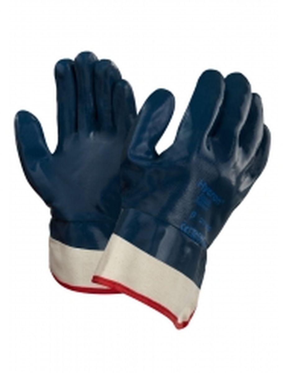 ansell nitril arbeits handschuhe hycron 27 805 blau. Black Bedroom Furniture Sets. Home Design Ideas