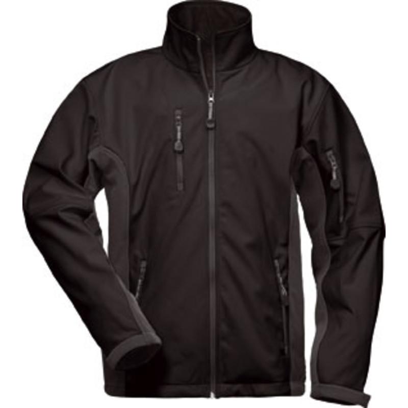 2b585220085256 F-CRAFTLAND-Softshell-Jacke, *KRONOS*, schwarz/grau