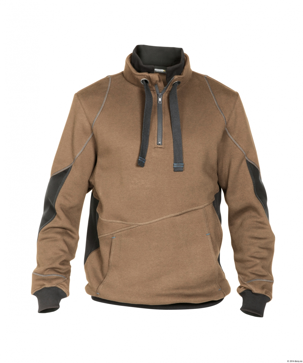 dassy sweatshirt 39 stellar 39 290g m braun grau. Black Bedroom Furniture Sets. Home Design Ideas