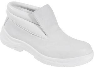 weiße Sicherheitsschuhe Gastronomie Schuh Schnürstiefel FERMO S2 Größen 36-47