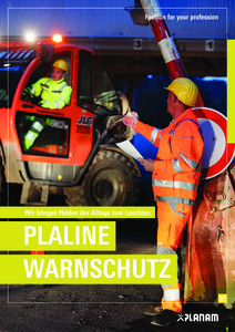 Planam<br/><strong>Plaline Warnschutz</strong><br/>2018/20 Logo